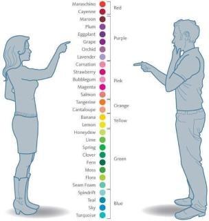 forskel mænd kvinder farver