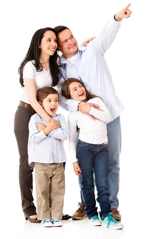 En lykkelig familie