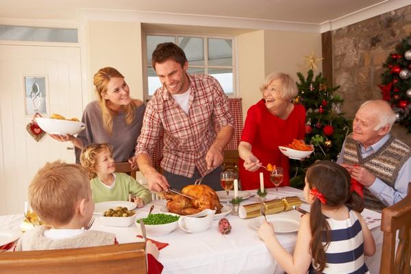 Jul med familien