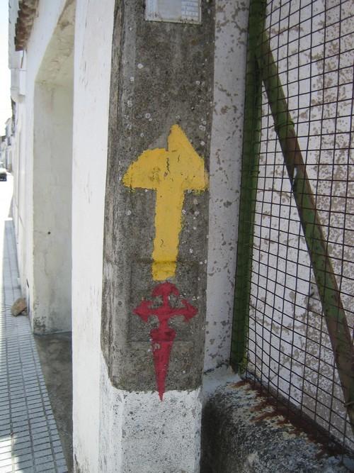 pil på Caminoen