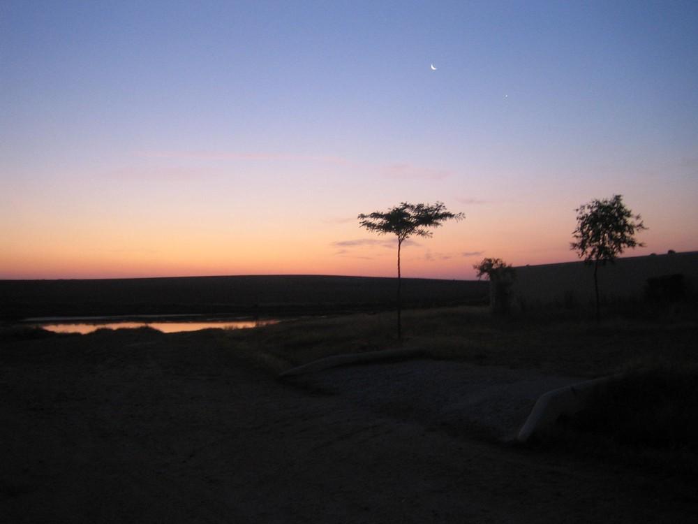 Langdistancevandring en tidlig morgen