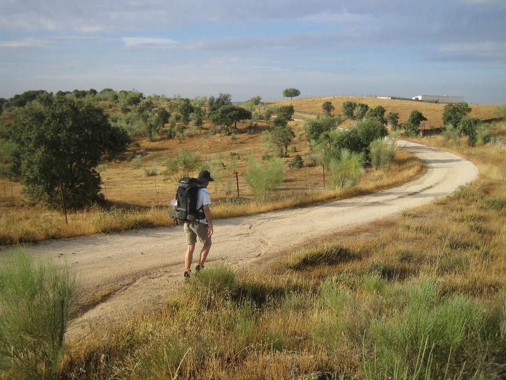 Mikael Hoffmann Camino-vandring i Spanien