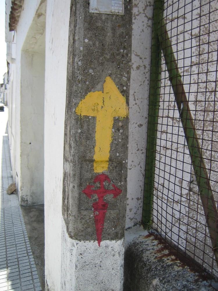 pilen på Caminoen