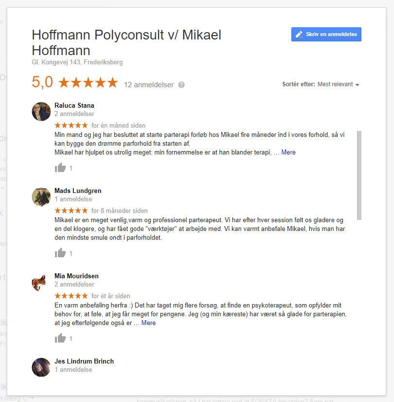 Google klient udtalelser