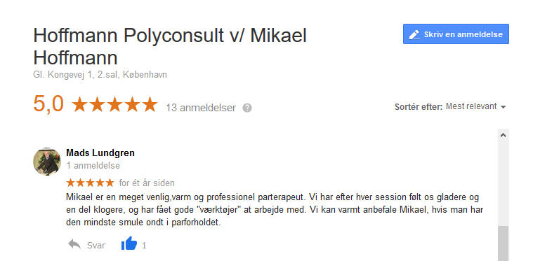 parterapi Mikael Hoffmann
