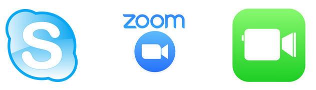 skype, zoom, facetime